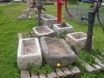 A Selection of Granite Stone Troughs