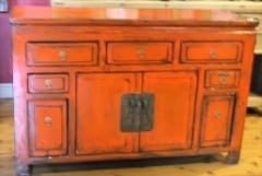 Antique Strong Orange Sideboard