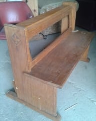 Two Seater Oak Church Pew