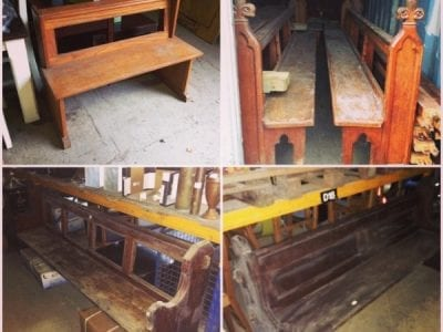 Selection of church pews