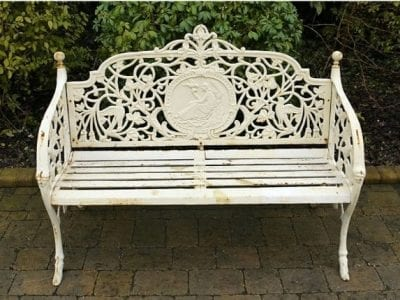 Cast Iron Bench Lady