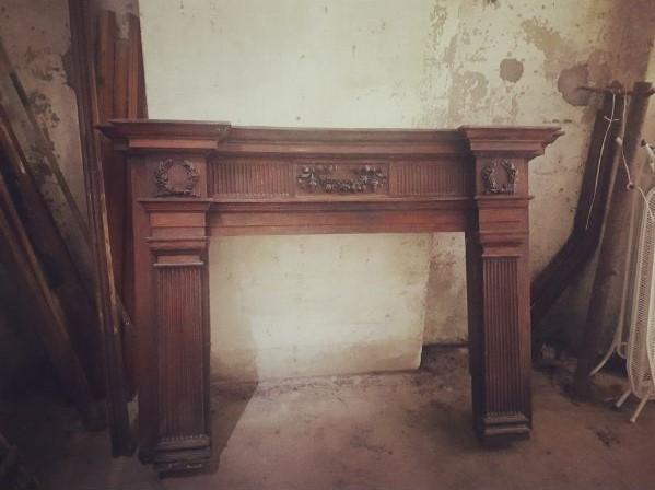 Teak Fireplace