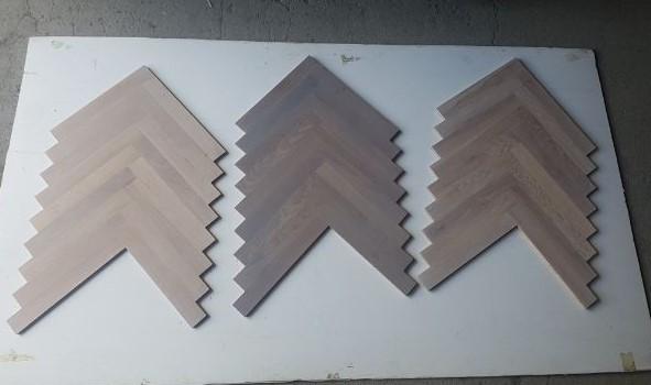 Flooring - Selection of herringbone solid oak light