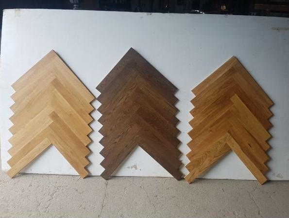 Flooring - Selection of herringbone solid oak