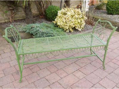 Bench - Long green - no back