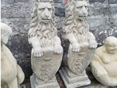 Pair of Wescott Lions